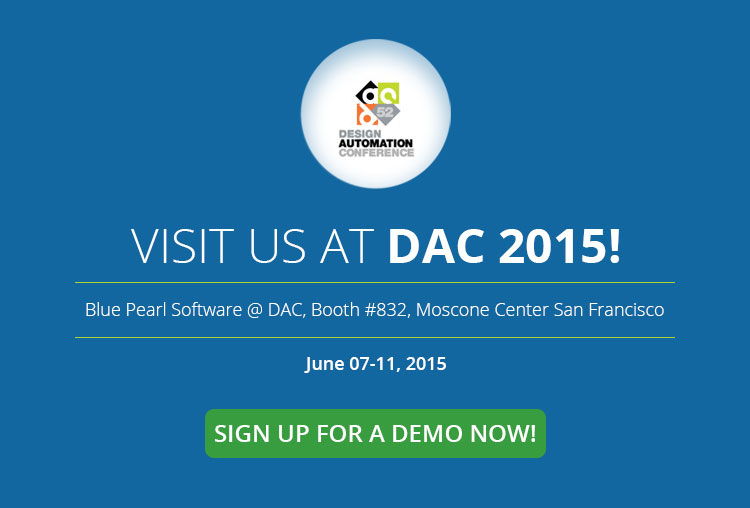 blue pearl software at dac 2015 blue pearl software inc. Black Bedroom Furniture Sets. Home Design Ideas